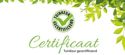 Tuinkeur Certificaat Gernell Hoveniers